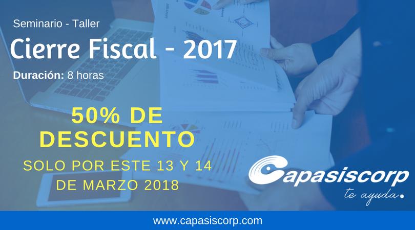 Cierre Fiscal - Promocional